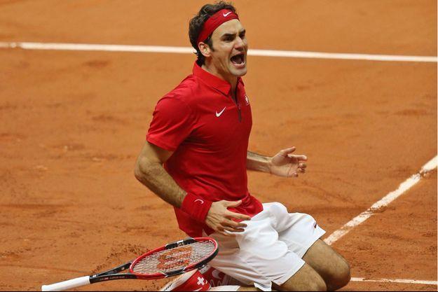 Dimanche 23 novembre, l'explosion de joie: Roger Federer vient de remporter la Coupe Davis.