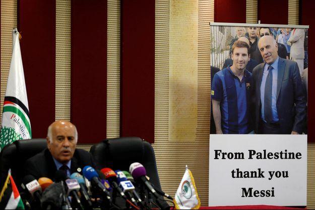 Le président de la Fédération palestinienne, Jibril Rajoub, a tenu à remercier publiquement Lionel Messi.