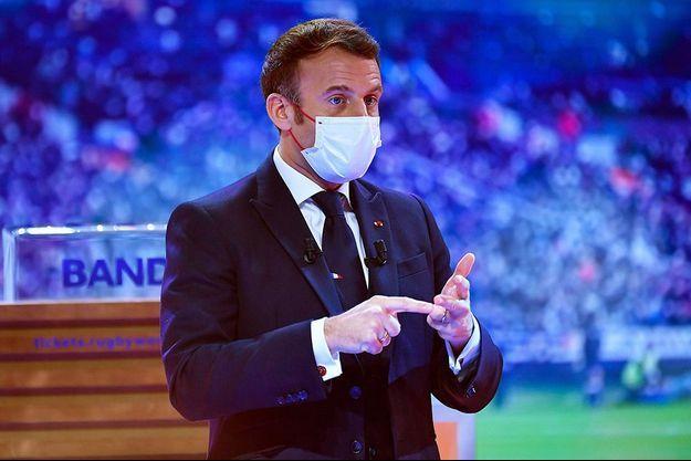 Emmanuel Macron était présent lors du tirage au sort.