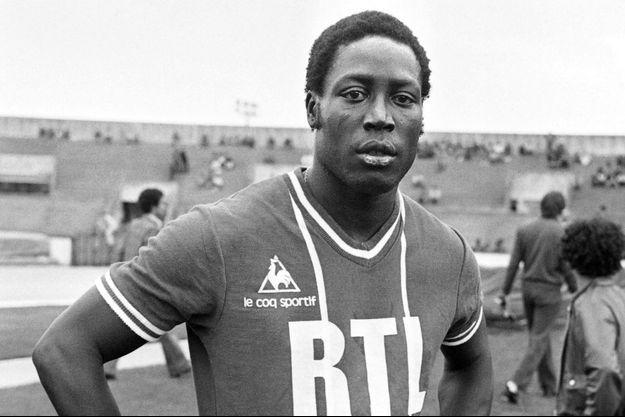 Jean-Pierre Adams sous le maillot du PSG.