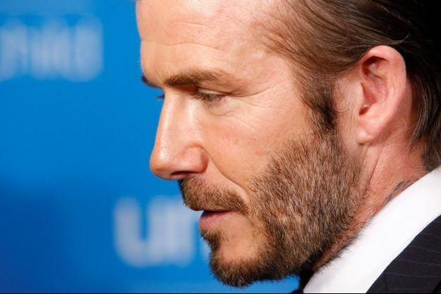 David Beckham au dernier gala de l'Unicef en décembre dernier.