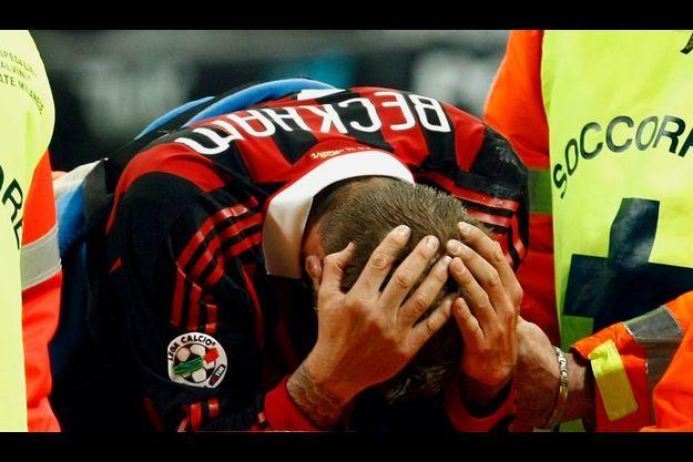 A San Siro, dimanche soir, David Beckham est sorti sur blesure à 88ème du match entre le Milan AC et le Chievo Veronne.