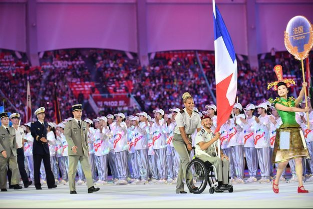 La délégation française lors de la cérémonie d'ouverture des Jeux mondiaux militaires.