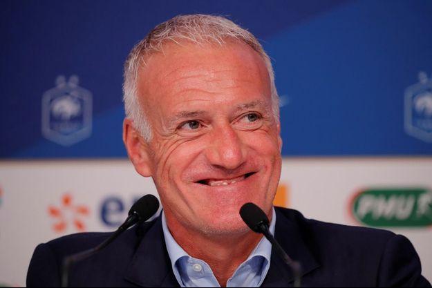 Didier Deschamps jeudi à la FFF.
