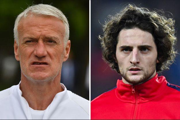 Didier Deschamps et Adrien Rabiot.