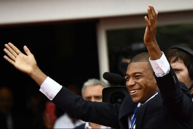 Kylian Mbappé présenté ce mercredi à Paris.