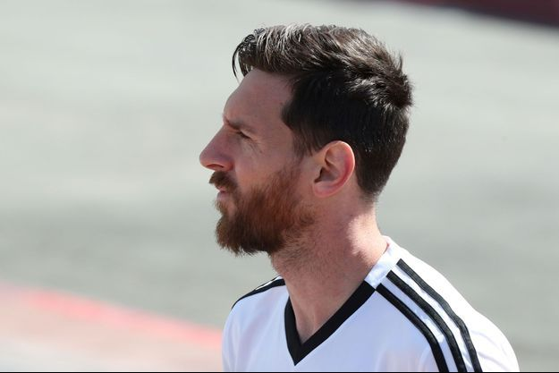 Lionel Messi à l'entrainement.