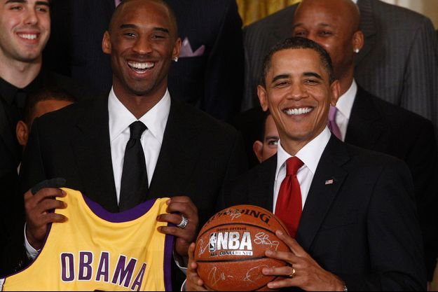 Kobe Bryant et Barack Obama en 2010.