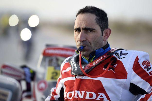 Paulo Gonçalves, en 2016, sur le Dakar en Agentine.