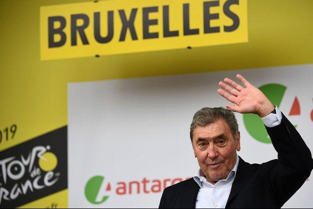 Eddy Merckx début à Bruxelles, lors du Tour de France 2019.