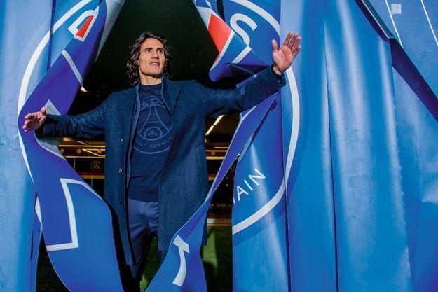Edinson Cavani, 31 ans, 1,84 mètre, 181 buts sous le maillot du PSG.