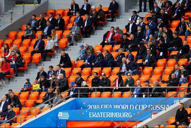 Les tribunes vides du stade d'Ekatérinbourg.