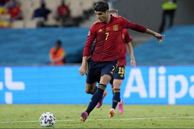 Alvaro Morata n'a pas concrétisé la meilleure occasion espagnole de la rencontre.