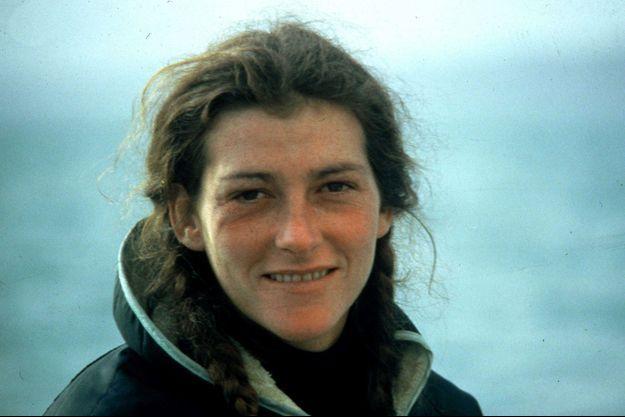 Florence Arthaud en 1983, en Bretagne, lors de la transat en double.