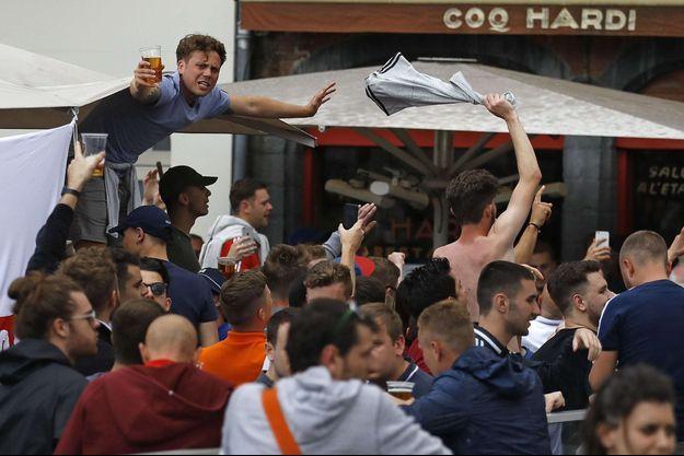 Les supporters anglais ont trouvé de l'alcool à consommer