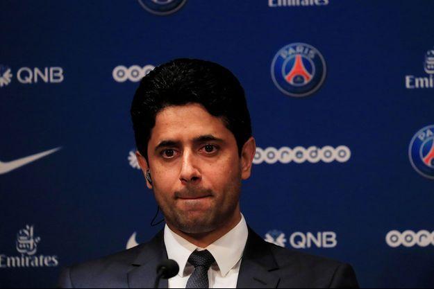 Le président du PSG Nasser Al-Khelaïfi.