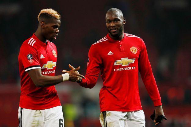 Paul Pogba et Romelu Lukaku