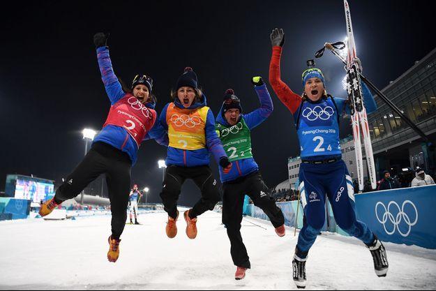 Les relayeuses du biathlon français ont remporté la médaille de bronze, jeudi à Pyeongchang.
