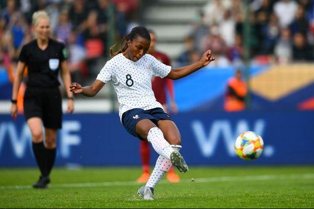 Grace Geyoro, samedi dernier lors du match amical de la France contre la Thaïlande.