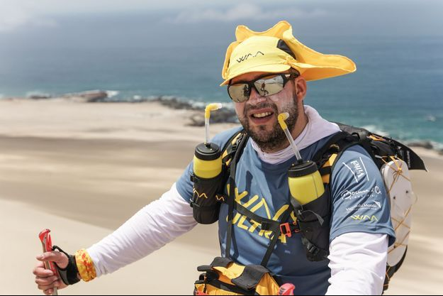 Guillaume Gomez , début décembre lors du Half marathon des Sables.