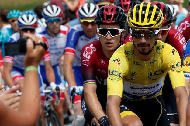 Julian Alaphilippe a conservé son maillot jaune.