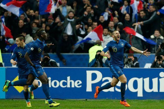 Karim Benzema a marqué le deuxième but de l'équipe de France.