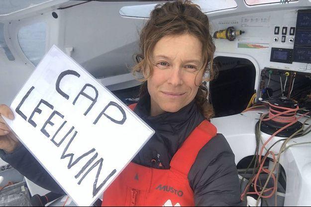 Isabelle Joschke a passé le Cap Leeuwin, au sud de l'Australie.