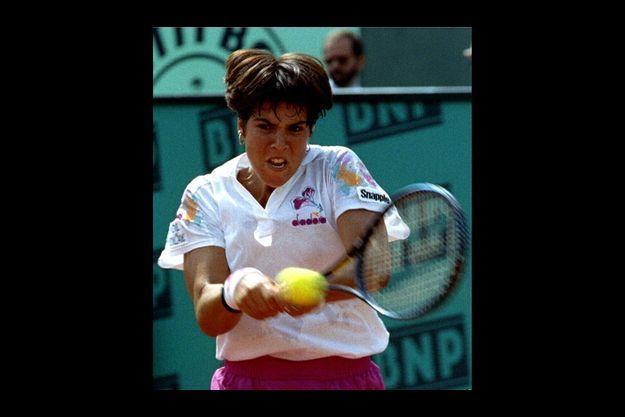 Jennifer Capriati à Roland-Garros en 1993.