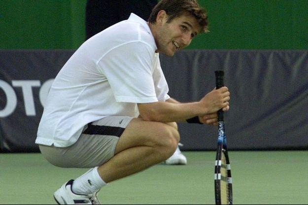 Jérôme Golmard à l'Open d'Australie en janvier 2002.