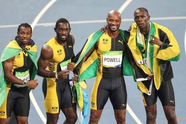 Le quatuor jamaïcain du 4x100 mètres