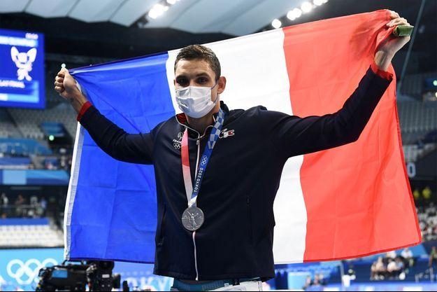 Florent Manaudou médaillé d'argent à Tokyo.