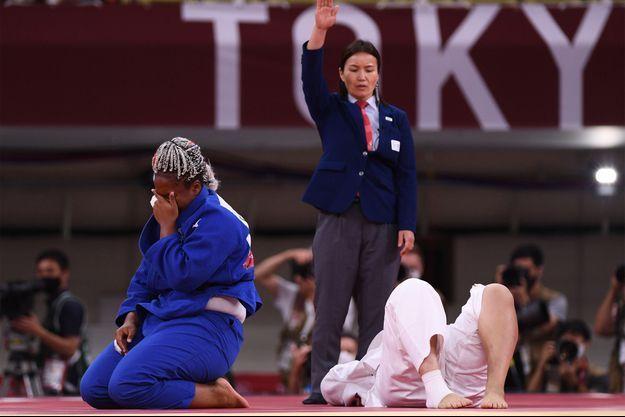 Romane Dicko a remporté vendredi la médaille de bronze aux JO de Tokyo dans la catégorie des +78 kg.
