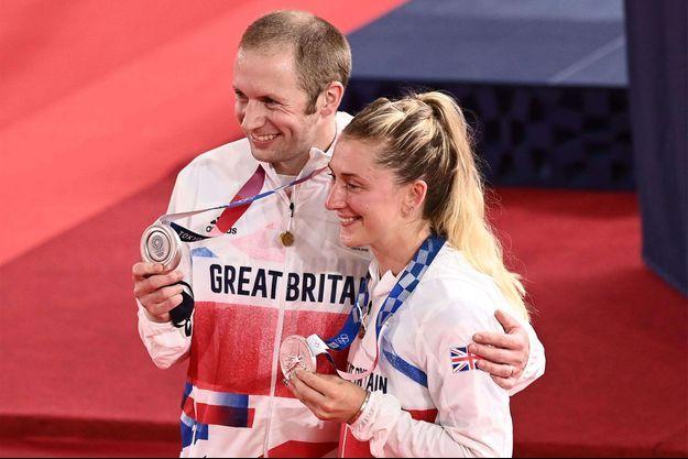 Jason et Laura Kenny médaillés d'argent aux Jeux Olympiques de Tokyo