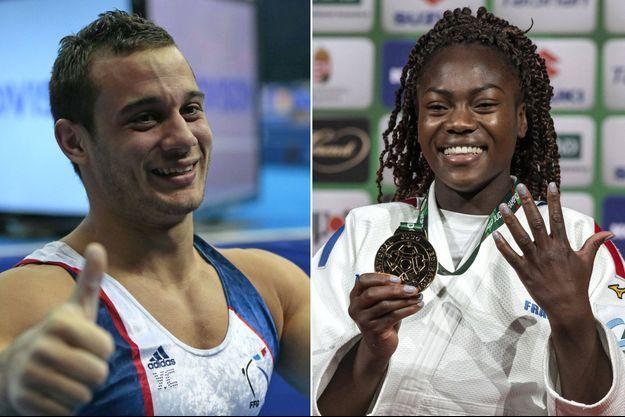 Le gymnaste Samir Aït Saïd et la judoka Clarisse Agbegnenou.