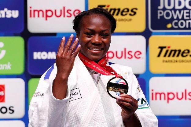 Clarisse Agbegnenou a remporté son quatrième championnat du monde.