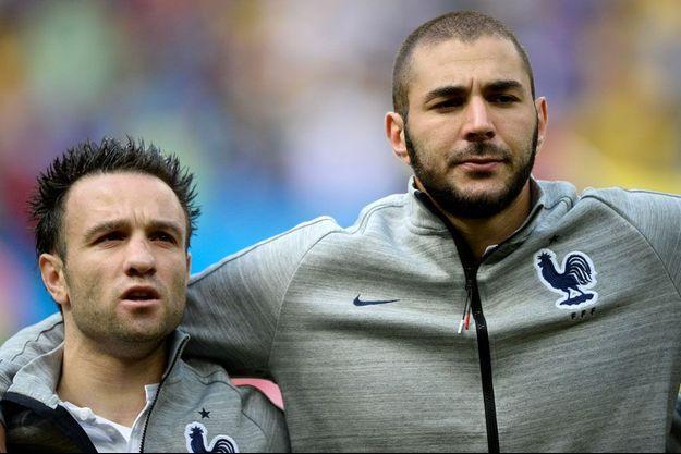 Mathieu Valbuena et Karim Benzema (phot d'illustration)