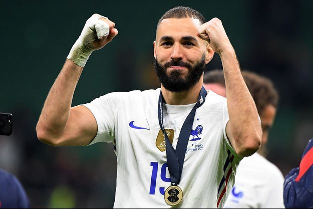 Karim Benzema a remporté la Ligue des nations avec l'équipe de France.