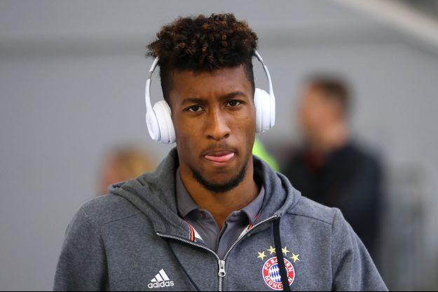 Kingsley Coman, qui joue sous les couleurs du Bayern Munich, ici en avril dernier.
