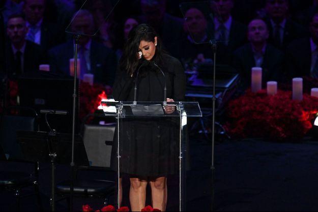Vanessa Bryant au Staples Center le 24 février, pour l'hommage rendu à sa fille Gianna et son mari Kobe.