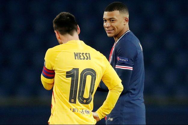 Lionel Messi, sous le maillot du FC Barcelone, et Kylian Mbappé parviendront-ils à cohabiter au PSG ?