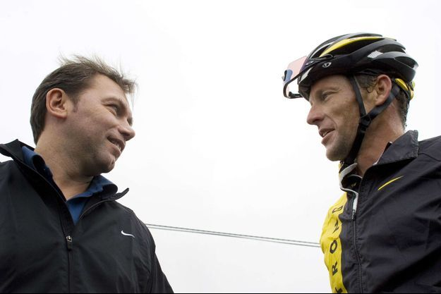 Johan Bruyneel et Lance Armstrong.