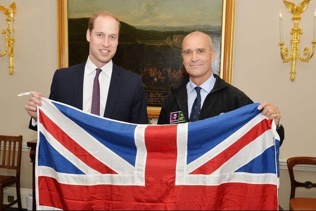 En octobre dernier, Henry Worsley rencontrait le prince William.