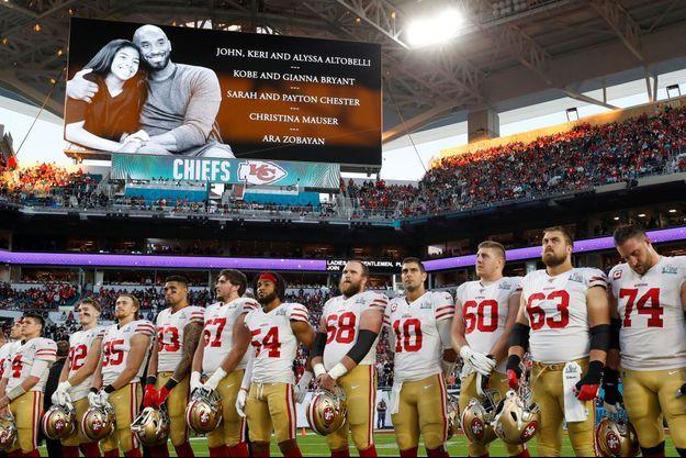 L'émotion des joueurs lors du Super Bowl, dimanche soir.