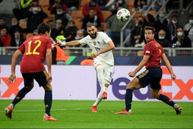 Karim Benzema a marqué le but de l'égalisaiton sur un chef d'oeuvre.