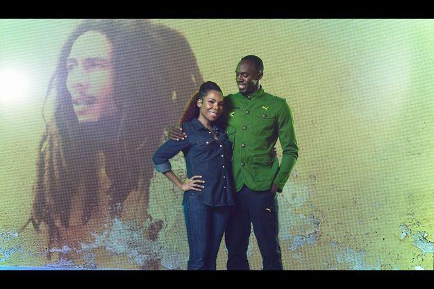 Cedella Marley et Usain Bolt