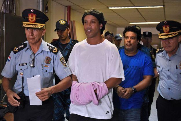 Ronaldinho le 7 mars 2020 à Asuncion au Paraguay.
