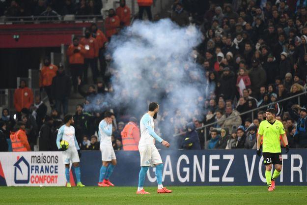 OM contre Lille, le 25 janvier 2019.