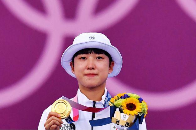 An San, triple médaillée d'or aux JO de Tokyo en tir à l'arc, a été harcelée en ligne en raison de sa coupe de cheveux.