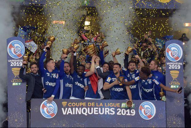 Strasbourg, vainqueur de la Coupe de la Ligue 2019.