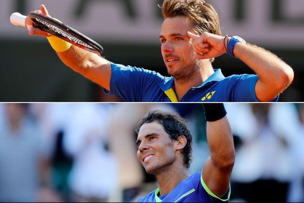 Rafael Nadal et Stan Wawrinka s'affronteront dimanche à Roland-Garros en finale.